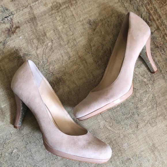 Franco Sarto Shoes - Franco Sarto pinky nude suede pump heels 10.5